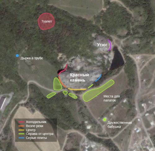 Карта района Красного камня